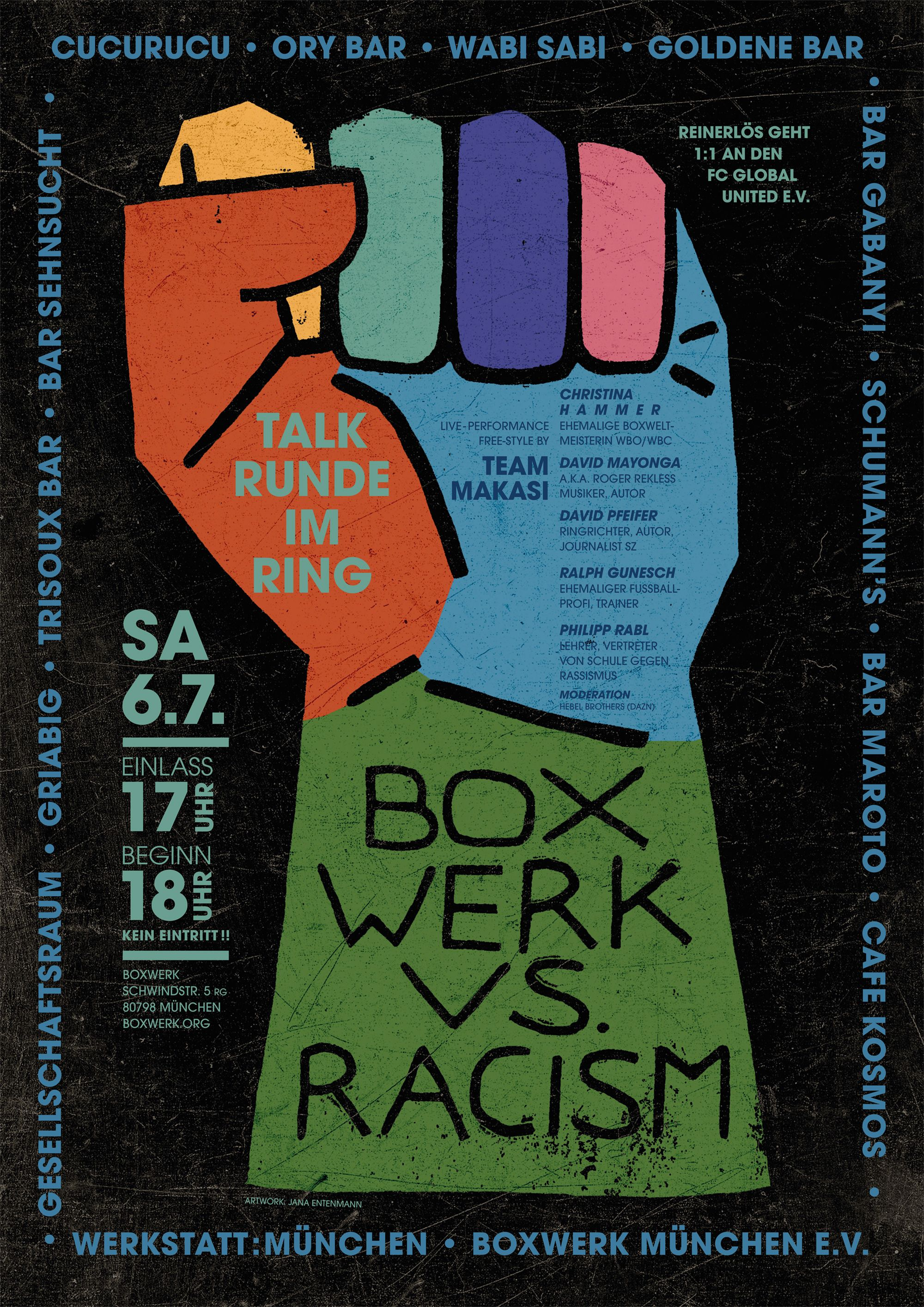 Bxw Against Racism Plakat